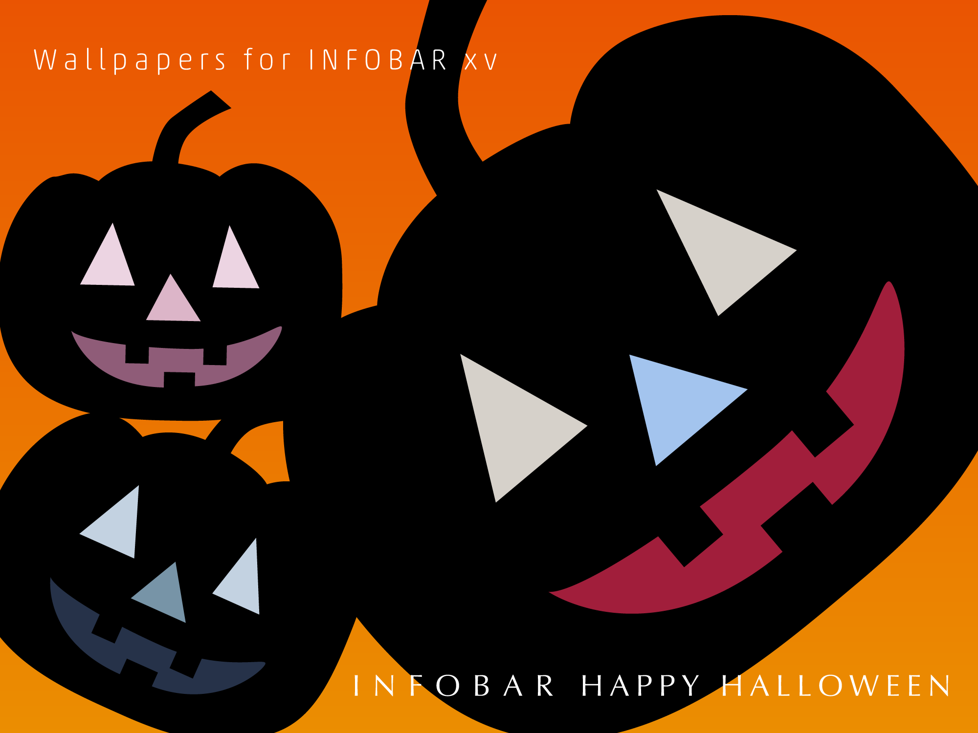INFOBAR xv用壁紙 | Halloween