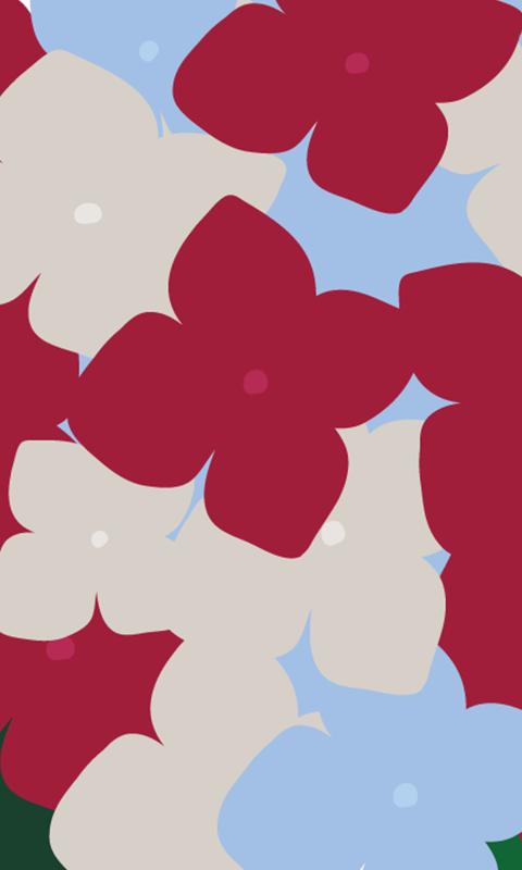 INFOBAR xv用壁紙 | あじさい_cl NISHIKIGOI(480x800)
