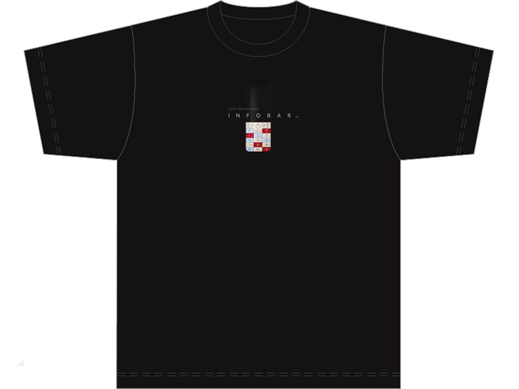 INFOBAR xv Tシャツ
