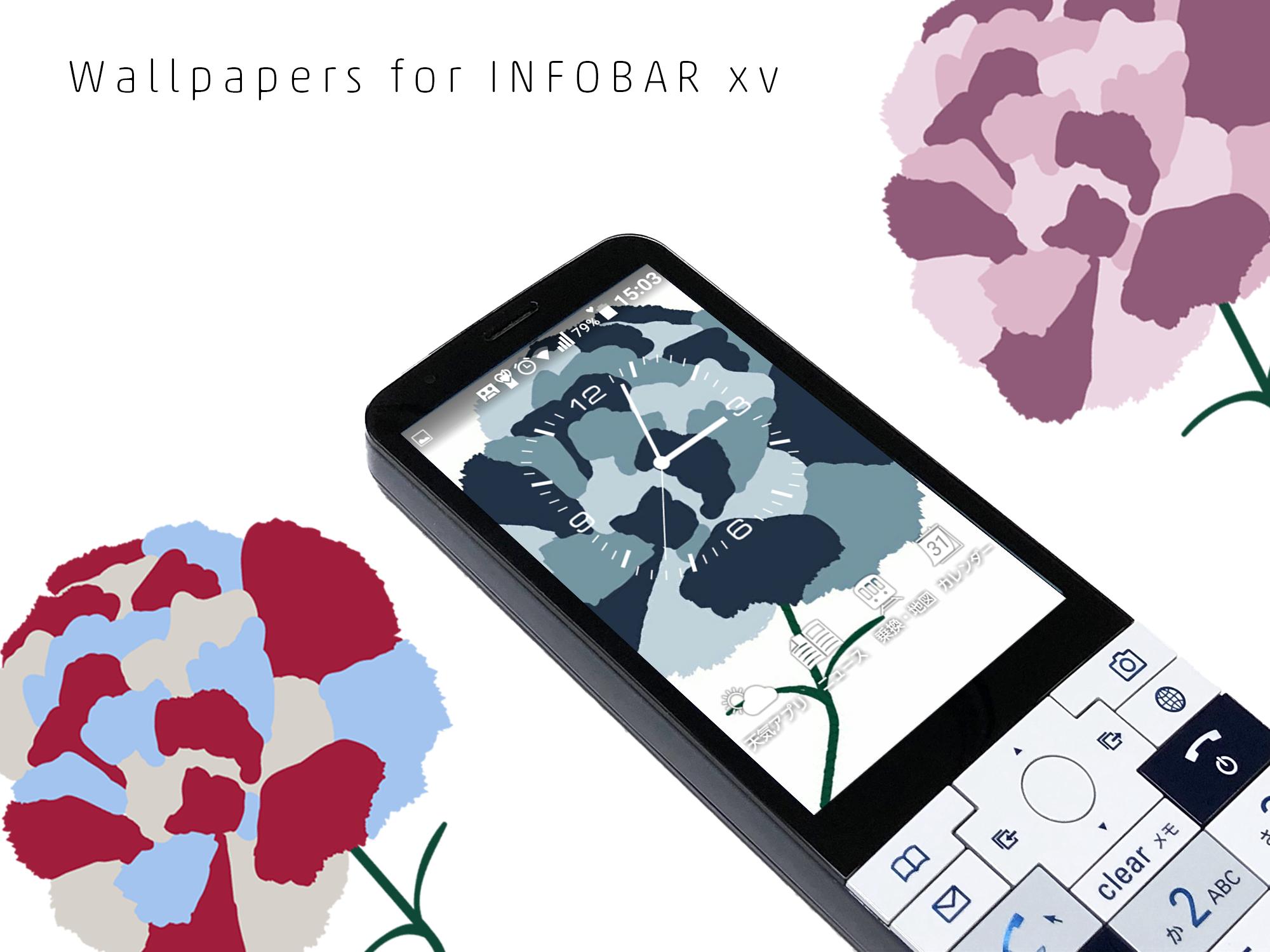 INFOBAR xv用壁紙 | カーネーション