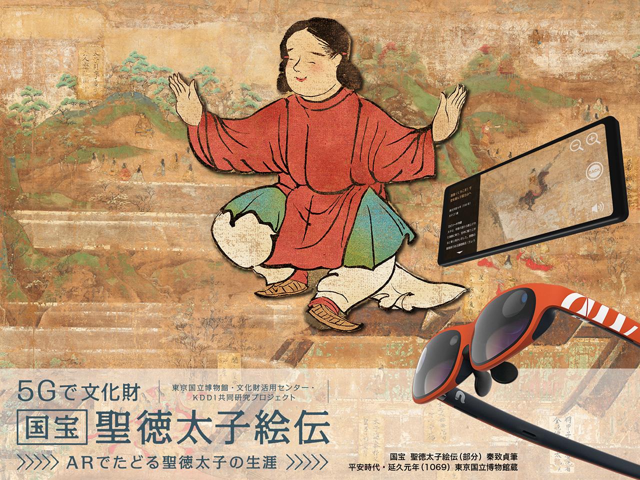 5Gで文化財 国宝「聖徳太子絵伝」– ARでたどる聖徳太子の生涯 –